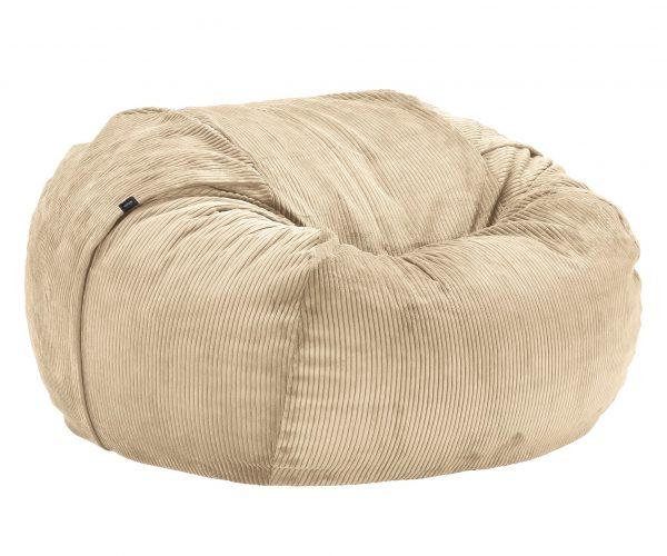Beanbag large - Cord velours sand
