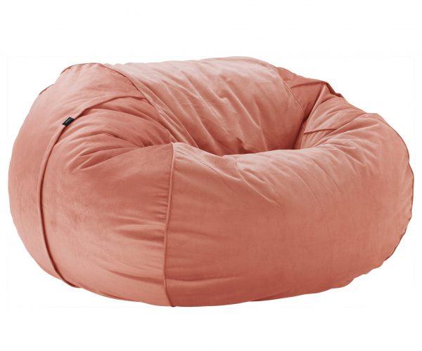 Beanbag large - Velvet peach