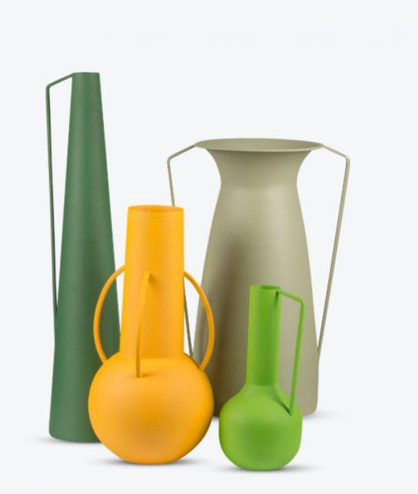 Vase Green - set van 4