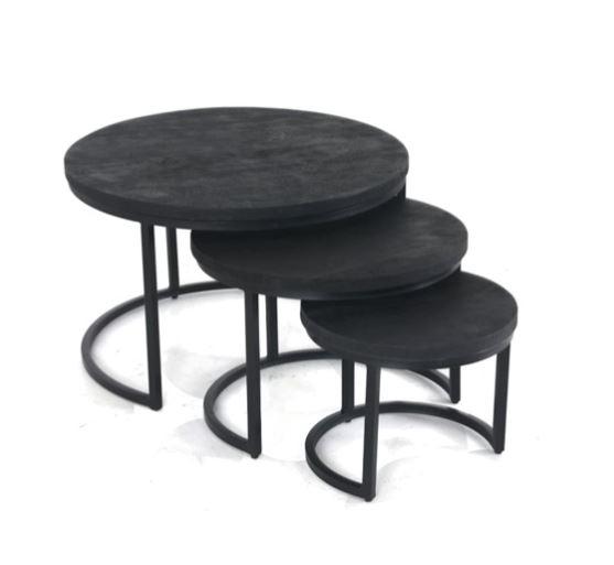 Sidetable set of 3 - zwart/zwart