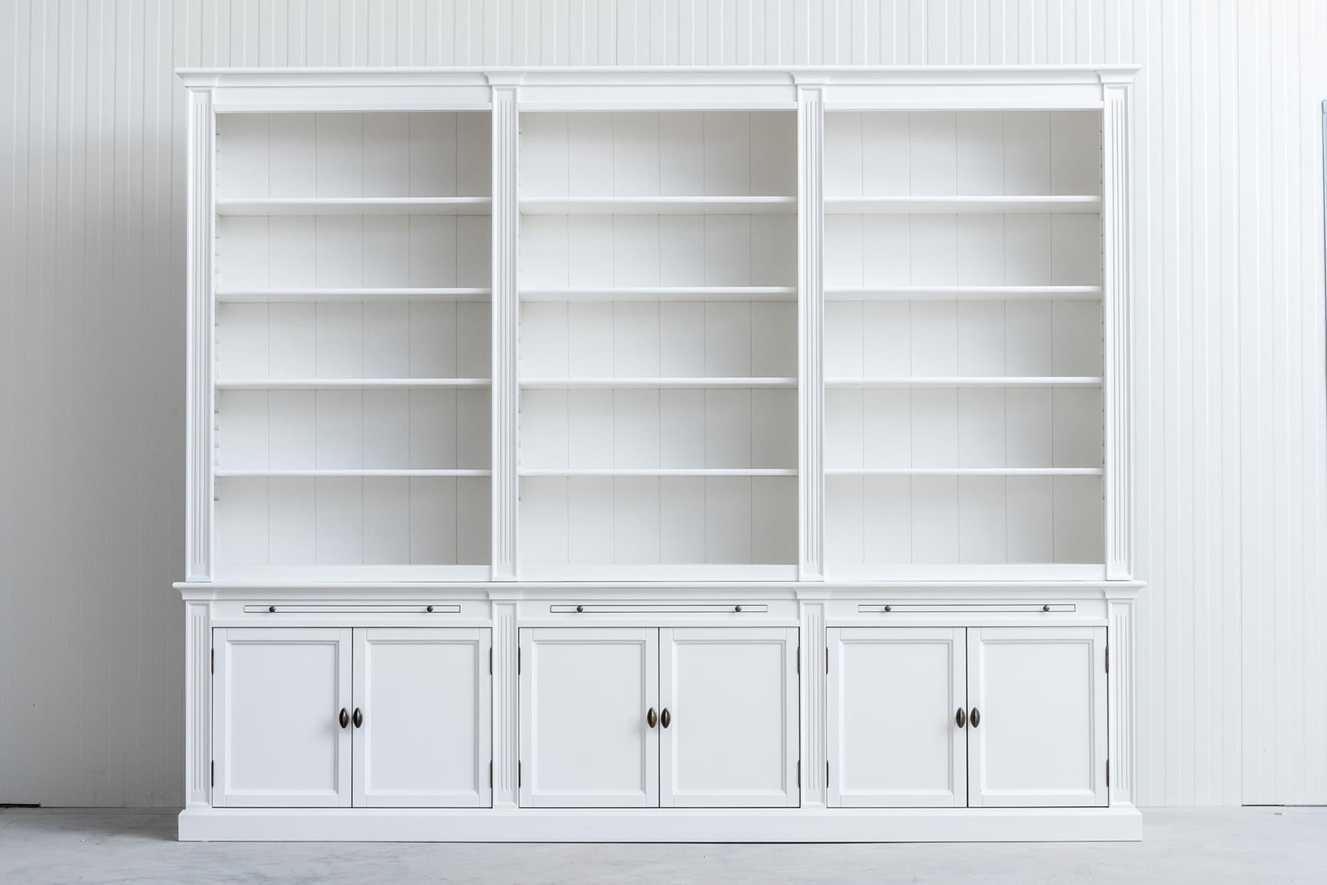 boekenkast bo 3 meter wit