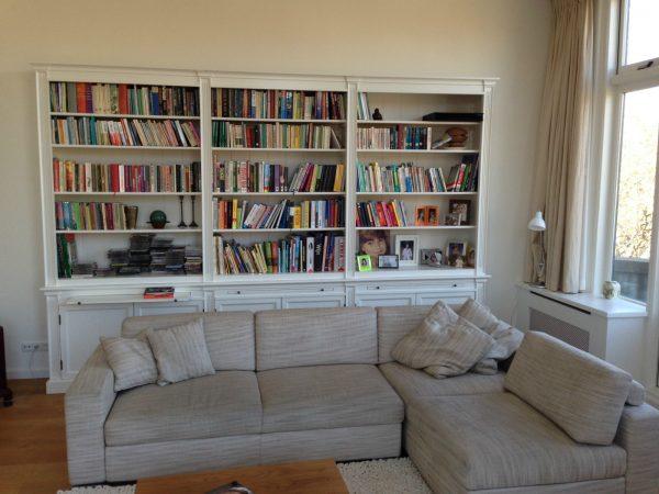 Landelijke Boekenkast op maat  Den-Haag.