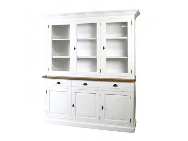 Witte buffetkast Oriental  2x3-deuren 3-laden