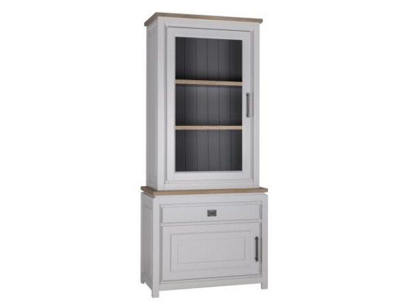 Vitrinekast Ritz 2x1-deur 1-lade