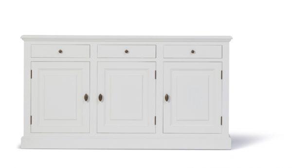 Landelijk dressoir Bo 3-deuren 3- laden wit