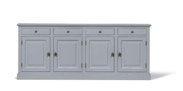 Landelijk dressoir Bo 4- deuren 4- laden grijs