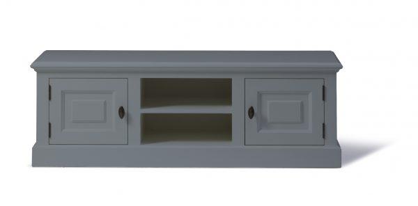 Landelijk Tv-meubel Bo 2-deuren 2-open vak Grijs 200cm.