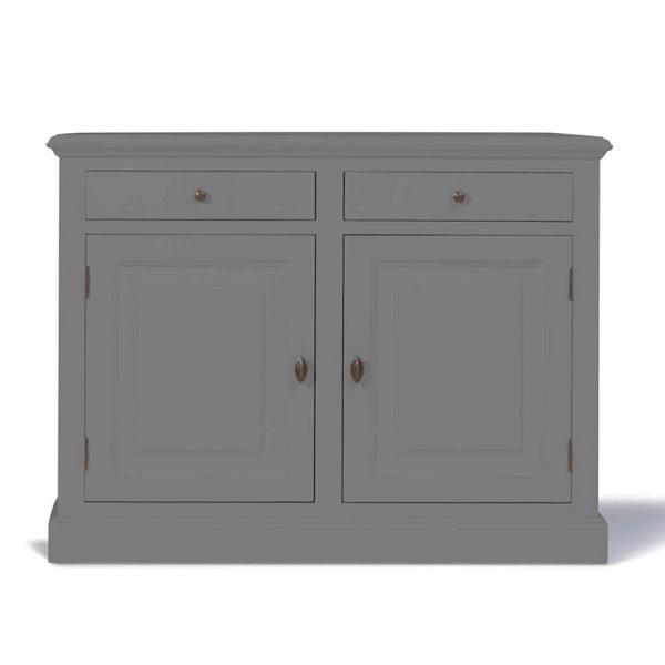 Landelijk dressoir Bo 2-deuren 2-laden Kwarts-Grijs .