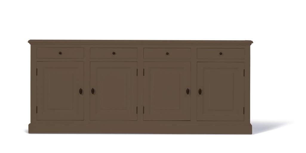 landelijk-dressoir-bo-4-deuren-4-laden-bleekbruin-kastenn.nl