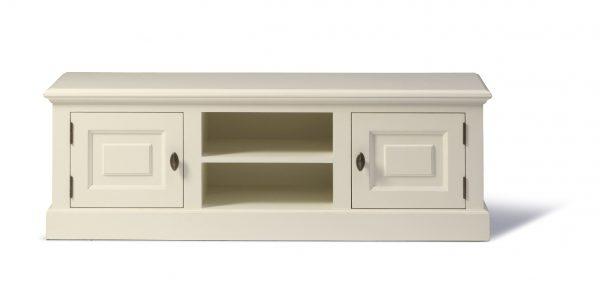 Landelijk Tv-meubel Bo 2-deuren 2-open vak Crèmewit.