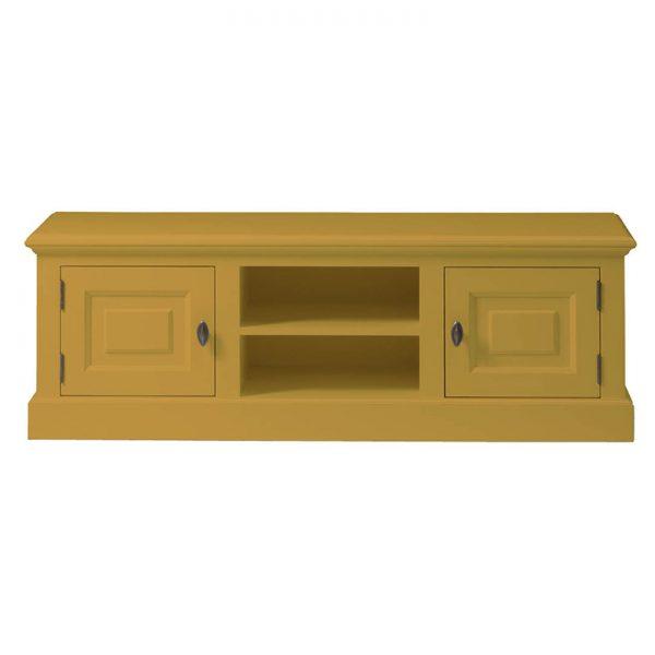 Landelijk Tv-meubel Bo 2-deuren 2-open vak Goudgeel.