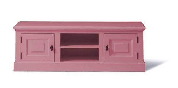 Landelijk Tv-meubel Bo 2-deuren 2-open vak Lichtroze.