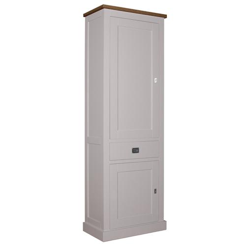 Landelijke Bergkast Square Oak 2-Dichte-deuren 1-laden Linksdraaiend.