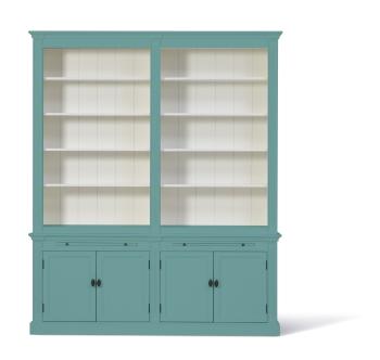 Landelijke Boekenkast Bo 2M Pastelturquoise.