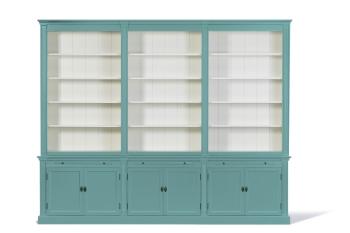 Landelijke Boekenkast Bo 3M Pastel-turquoise.
