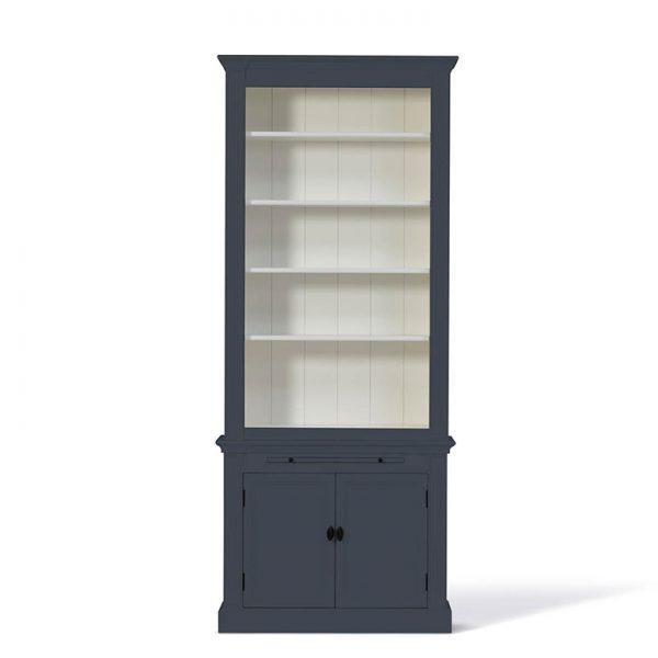 Landelijke Boekenkast Bo Leigrijs 1M.