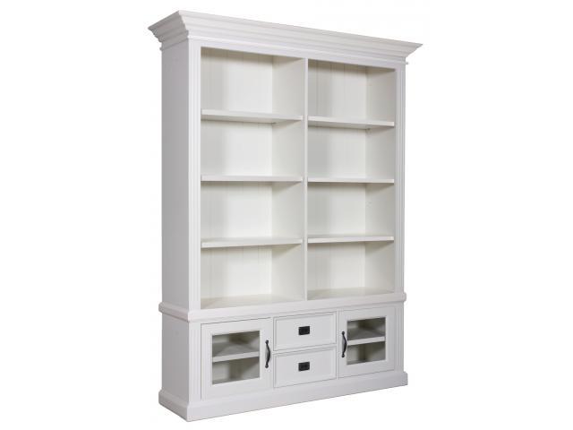 landelijke-boekenkast-orlando-glaze-2-deuren-2-laden-kastenn.nl