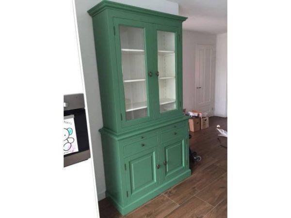 Landelijke Buffetkast 2x2-deuren groen