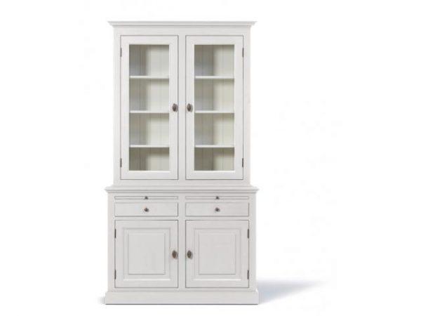 Landelijke Buffetkast Bo  2x2-deuren 2-laden wit.