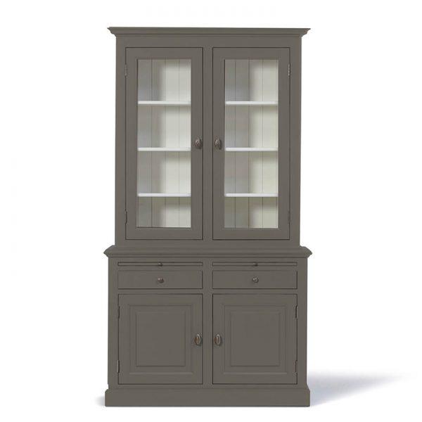 Landelijke Buffetkast Bo 2x2-deuren 2-laden Kwartsgrijs.