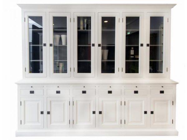 Landelijke Vitrinekast Bo 2x6-deuren 6-laden.