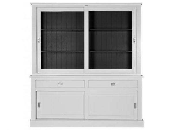 Landelijke Vitrinekast Boxx 2x2-deuren 2-laden richmond.