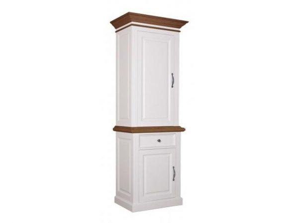 Landelijke Buffetkast Orlando Oak 80cm 2x1 deur 1-lade linksdraaiend