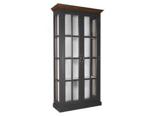 Landelijke Vitrinekast Clearglass Oak 2-deuren