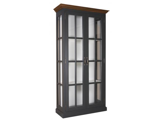 landelijke-vitrinekast-clearglass-oak-2-deuren-kastenn.nl
