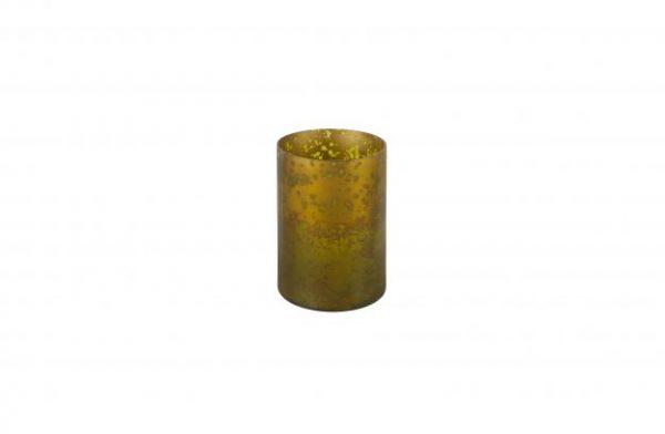 Stardust glazen licht/vaas antique brass x-large