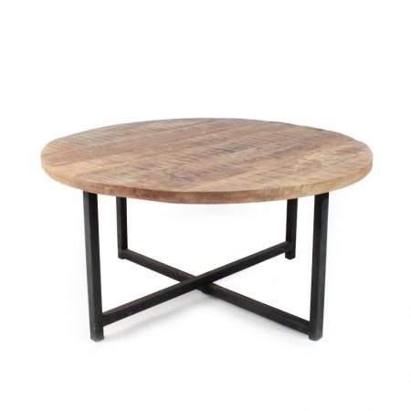 salontafel rond industrieel dia 80cm