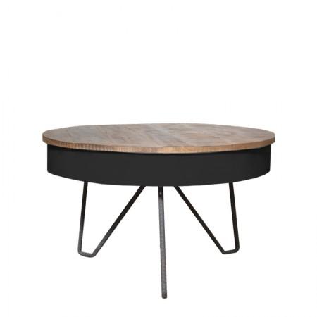 salontafel saria zwart 80 cm