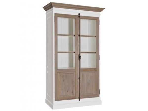 Vitrine Country Oak 2-eiken deuren met espagnoletsluiting