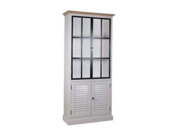 Vitrine Louvre 2x2-deuren (metalen deuren)