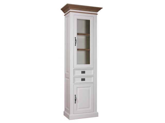 vitrinekast-orlando-oak-70cm-2×1-deuren-2-laden-kastenn.nl